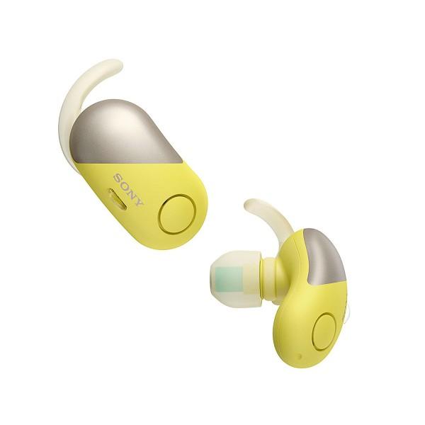 Sony wf-sp700n amarillo auriculares inalámbricos deportivos bluetooth nfc noise cancelling funda de carga