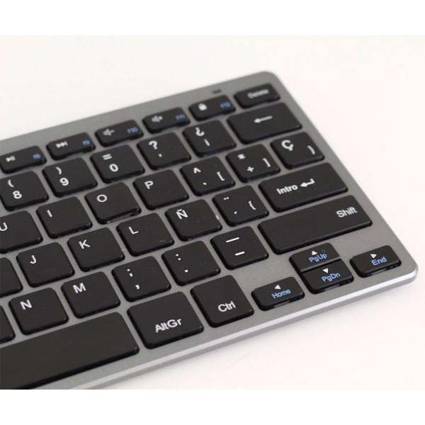 Subblim dynamic compact gris teclado inalámbrico bluetooth slim 6mm grosor compacto