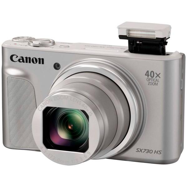 Canon powershot sx730 hs plata cámara de fotos digital compacta 20.3mp fhd zoom estabilizador wifi bt nfc