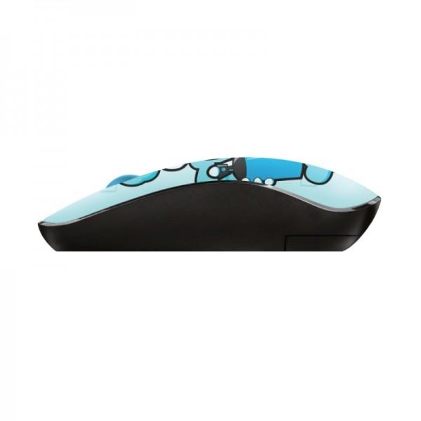 Trust ratón inalámbrico sketch wireless silent click azul - 1600dpi